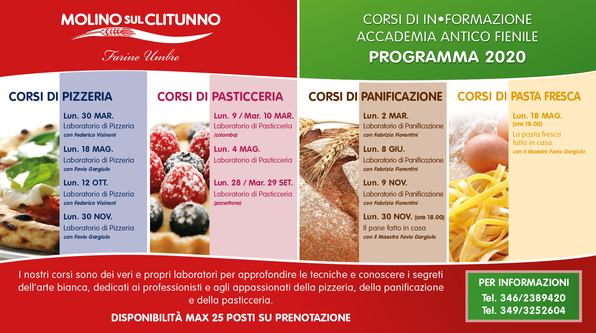 The IN-Formation 2020 courses of the Accademia Antico Fienile start again