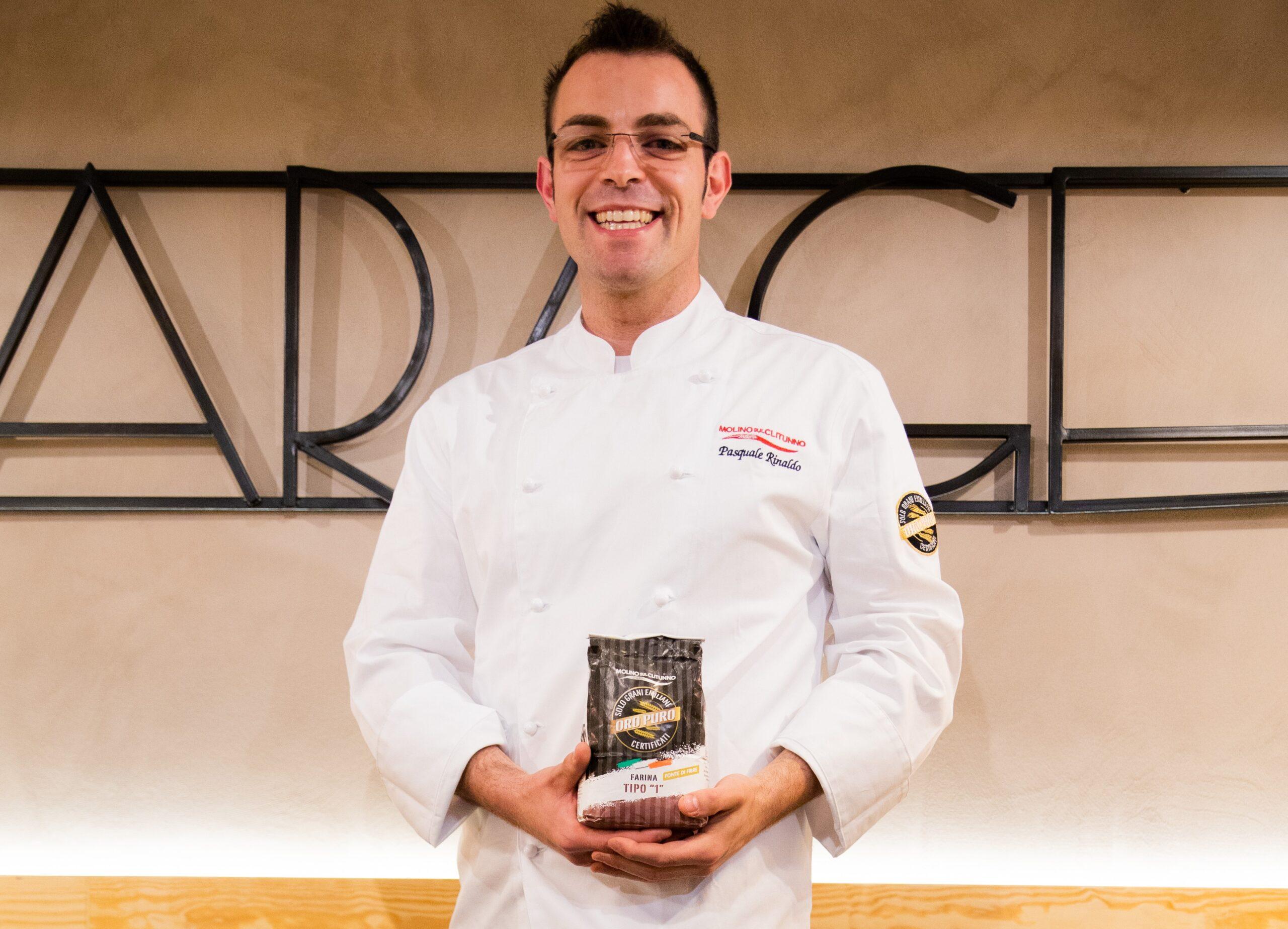 Anche lo chef Pasquale Rinaldo tra i brand ambassador delle farine d'eccellenza firmate Molino sul Clitunno